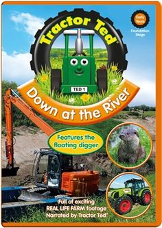 Tractor Ted discovers life on the riverbank. See a big tractor driving through the river, British wildlife including otters and water voles and then it's off to see a massive crane lifting a digger high into the air before it clears the river banks. Crane Lift, Floating Platform, Foundation Stage, Big Tractors, British Wildlife, River Bank, Otters, Countryside, Real Life