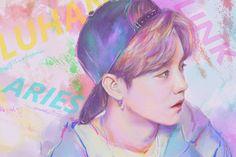 "Pin by yeon yan on lu "" fanart "" фан арт Sehun And Luhan, Exo, Chanyeol, Baby Lulu, I Luv U, Hunhan, Pink Photo, Fan Art, Kpop Fanart"