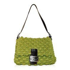 Fendi Lime Green Crochet Baguette  http://www.consignofthetimes.com/product_details.asp?galleryid=5348