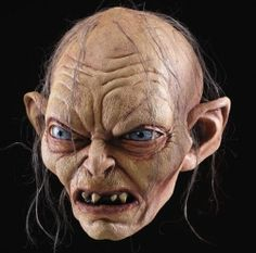 A Hobbit Halloween would not be complete without Gollum - would you believe this is a mask? Super-realistic professional quality latex-- and it costs a lot less than you would expect! Cool Costumes, Cosplay Costumes, Halloween Costumes, Gollum Smeagol, Hobbit Costume, Simpsons Drawings, Fire Breathing Dragon, Tolkien Books, Arte Horror