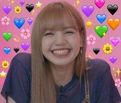 #blackpink #lisa #lalisa #cute  🌸 Memes Blackpink, Kpop Memes, Cute Love Memes, Cute Cat Memes, Blackpink Funny, Lisa Blackpink Wallpaper, Divas, Emoji Pictures, Heart Meme
