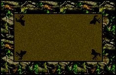 Hardwoods Green Realtree Bordered Leaves Camouflage Area Rug