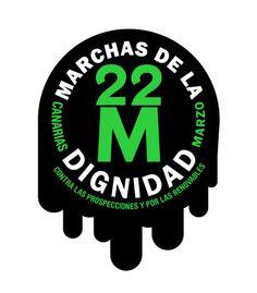 #22M Canarias dice NO Contra las prospecciones y por las renovables. Foto de la Coordinadora Canaria contra las Prospecciones.