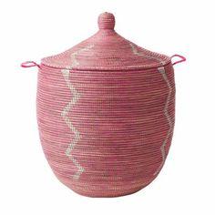 Pink Senegalese Storage Basket  / serena & lily
