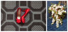 getting ready, milleridge inn wedding, red shoes, christmas wedding Tricia LaPonte Photography