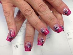 Acrylics nails design by Gigi Nguyen ❤