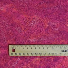 Buy Liberty of London Fabrics Online // A Liberty of London cotton from the Tana Lawn range - A detailed line and swirl floral print in beautiful shades of hot pink and tangerine. We also sell a huge range of silk fabrics, linen fabrics and merino fabrics.