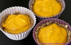 Mini Pumpkin Pies - no bake and vegan!