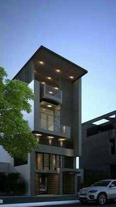 Most Popular Modern Dream House Exterior Design Ideas Modern Townhouse, Townhouse Designs, Architecture Design, Contemporary Architecture, Contemporary Design, Contemporary Stairs, Contemporary Building, Contemporary Cottage, Contemporary Wallpaper