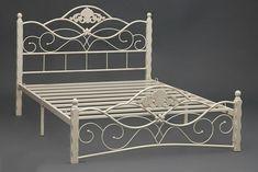 Photo Wrought Iron Garden Furniture, Wrought Iron Beds, Wrought Iron Decor, Iron Furniture, Steel Furniture, Home Decor Furniture, Steel Bed Design, Grill Door Design, Steel Bed Frame