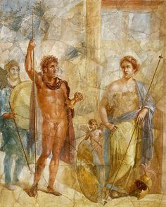 The Marriage of Mars and Venus - Fresco from Pompeii