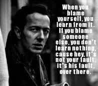 Joe strummer the clash Joe Strummer Quotes, Blame Quotes, Bad Father, The Clash, Life Thoughts, Smart People, Health And Wellbeing, Famous Quotes, Wise Words
