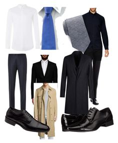 """""""Castiel and Crowley"""" by reraelusk ❤ liked on Polyvore featuring Canali, Givenchy, Topman, Michael Kors, Chaps, Johnston & Murphy, MICHAEL Michael Kors, J.Lindeberg, Calvin Klein and Ben Sherman"""