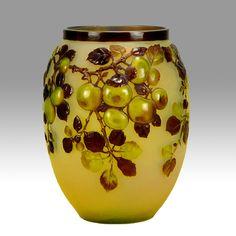 Emile Galle Souffle florero: Emile Gallé: Vidrio antiguo: Vendido Archivo: Recursos: Hickmet Bellas Artes