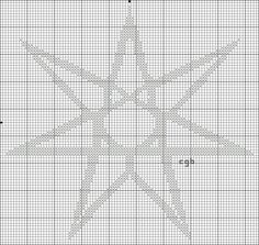 Elven Star - Cross stitch pattern  http://crossstitch.about.com/od/freecrossstitchpattern1/ig/Wiccan---Pagan-Symbols/Elven---Seven-Pointed-Star-.htm#