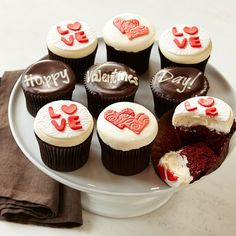 More® Valentine's Day Cupcakes, Set of 9 #williamssonoma