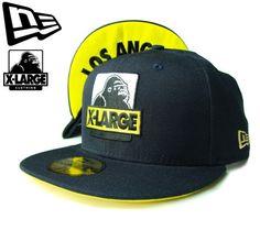 """【ニューエラ】【NEW ERA】59FIFTY X-LARGEコラボ """"LOS ANGELES""""アンダーバイザー OGロゴ ネイビーXイエロー【CAP】【newera】【レッド】【帽子】【エクストララージ】【エックスラージ】【黒】【BLACK】【logo】【赤】【青】【キャップ】【あす楽】【楽天市場】"""