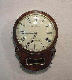 Antiques Atlas - English Drop Dial Wall Clock