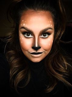 Deer makeup More disfraces malefica Halloween Inspo, Halloween Looks, Couple Halloween Costumes, Easy Halloween, Woman Costumes, Pirate Costumes, Princess Costumes, Group Costumes, Deer Halloween Makeup