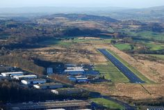 Cumbernauld International  Airport !! In those trees to the left is where the Roman wall was