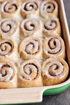Perfect Gluten Free Dairy Free Cinnamon Rolls Recipe | Allergy Free Alaska.... These are AMAZING!!!