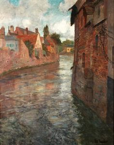 ۩۩ Painting the Town ۩۩ city, town, village & house art - Frits Thaulow (Norwegian, Impressionist, 1847-1906)