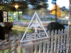 Birder window sticker is static cling removable by Naturesymbol, $6.00