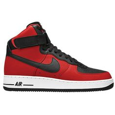 buy online 3ddce b5c6c Red black and white air force ones