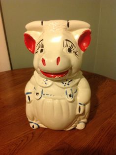 Bull/Cow Cookie Jar - Vintage ABCO American Bisque Pottery