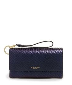 The Uptown Organizer Wrist Wallet in Holographic Snake slithers and she swoons. Crafted with snakeskin leather in a purple blueish hue and featuring a double snap closure that keeps your cards, cash, and coins safe and stylishly sound! Holiday Wishes, Holographic, Snake Skin, Fashion Bags, Organization, Handbags, Wallet, Purple, Leather