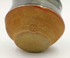 Shirley Johnson Carbon Trap Shino Clay Stoneware Yunomi Stamped Studio Pottery | eBay