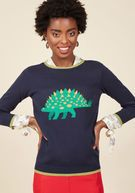 Snazzy 'Saurus Sweater in 1X | ModCloth
