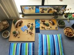 small world play scene using natural materials from an everyday story The Theory of Loose Parts