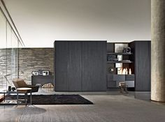 Sectional wardrobe with coplanar doors GLISS QUICK SLIDING Gliss Collection by MOLTENI