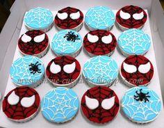 Image detail for -mysunshine-cupcakes: spiderman cupcake