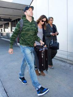"4c2ffb6238835c Celebrity Sneaker Watch  Jason Sudeikis in Air Jordan 1 ""Royal"""