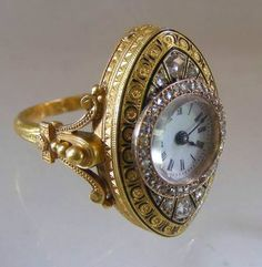 Antique Gold Watch Ring