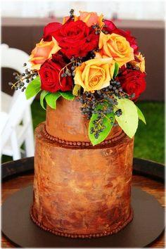 rustic autumn cake