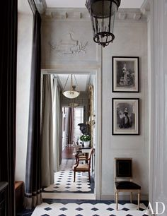 Traditional Entrance Hall by Jean-Louis Deniot in Paris, France