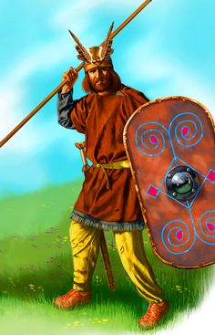 Celtic warrior spearman