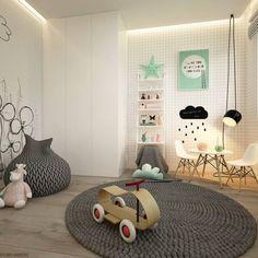 ELEMENTY - Pracownia Architektury Wnętrz の モダンな 子供部屋