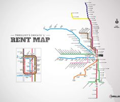 Rent Map of the L | It's more impossible to live in River North than you thought.