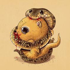 cute-gruesome-animal-drawings-predator-prey-alex-solis-alexmdc-17