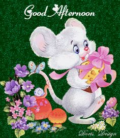 Good Afternoon Glitters, Images - Page 6 Good Afternoon Quotes, Good Morning Quotes, Good Morning Friends, Good Morning Good Night, Puppies Gif, Good Evening Greetings, Photos For Facebook, Les Gifs, Cute Mouse