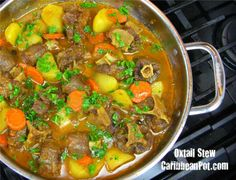 oxtail stew. This is a popular dish in Belize. It's very tasty and the oxtail is tender.