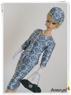 bena-pl Clothes for Silkstone, FR Victoire Roux & Vintage Barbie OOAK outfit