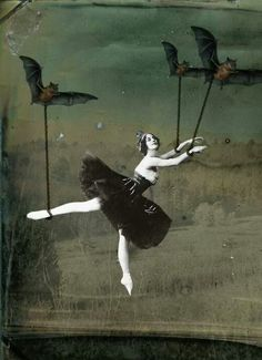 Ballet surrealism • Dancing with bats