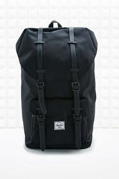 Herschel Supply co. Rubber Strap Little America Black Backpack - Urban Outfitters