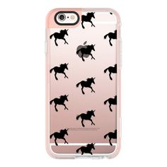 iPhone 6 Plus/6/5/5s/5c Case - Black Unicorn ($40) ❤ liked on Polyvore featuring accessories, tech accessories, iphone case, apple iphone cases, iphone cover case and iphone hard cases