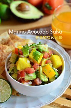 Violet's Kitchen ~♥紫羅蘭的爱心厨房♥~ : 芒果鳄梨莎莎酱 Mango Avocado Salsa